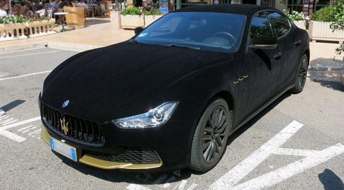 This Black Velvet-Wrapped Maserati is the Ride Fit for A King