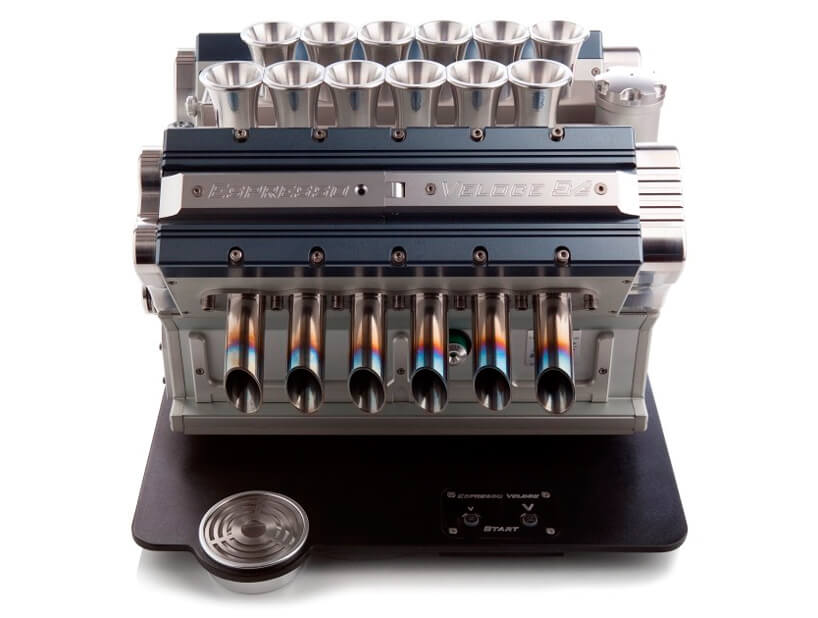 This Espresso Veloce Coffee Machine Looks Like a Formula One Engine