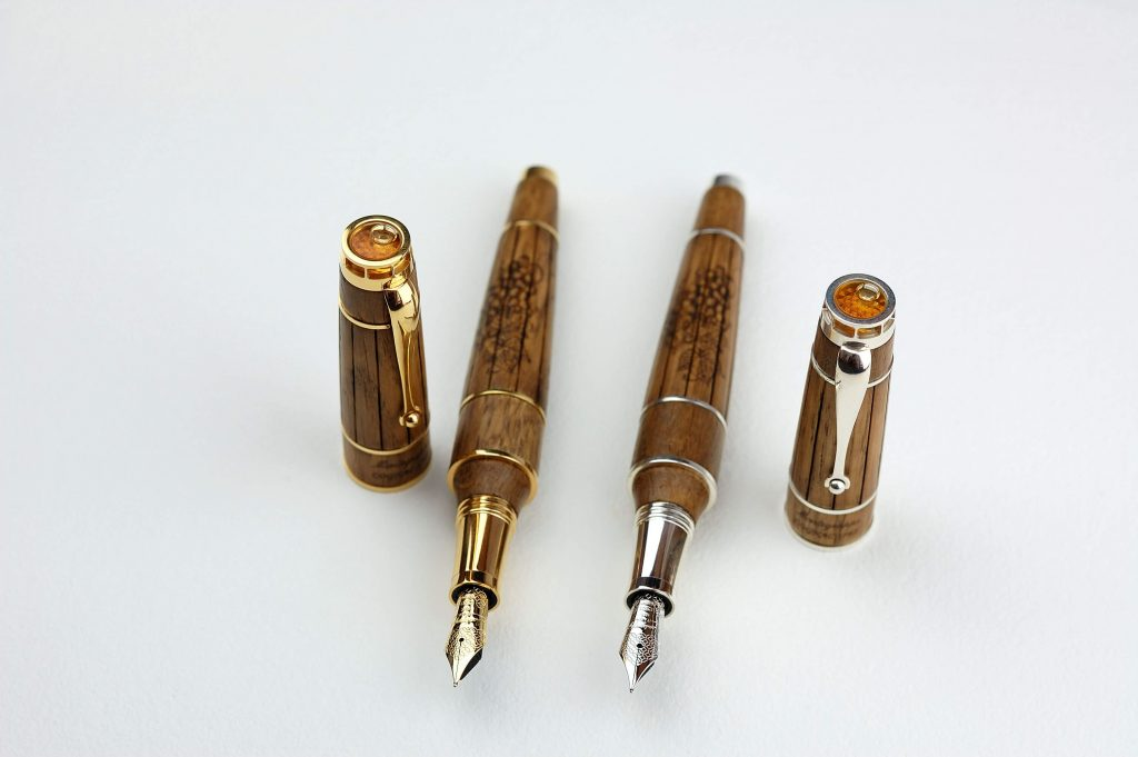 This Montegrappa Gautier Cognac Pen is filled with 275-Year-Old Cognac!
