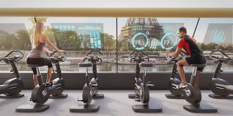 This Paris Navigating Gym Project is powered by Humans Working Out