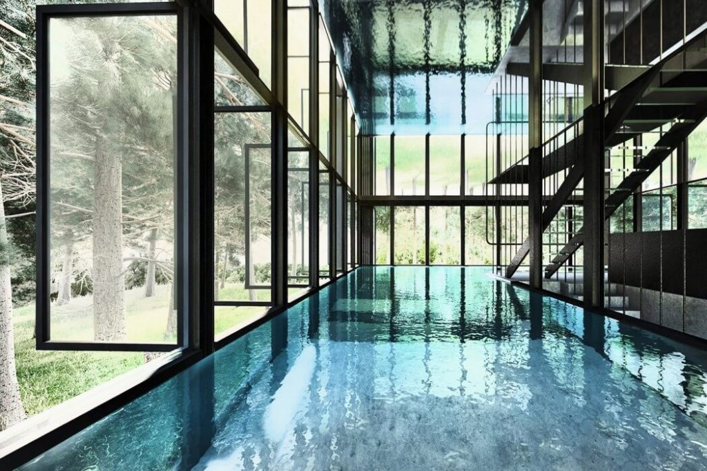 This Villa Clessidra by LAAV Architects Has A Swimming Pool on the Entire Second Floor