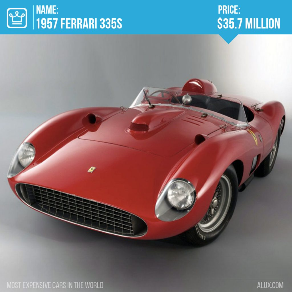 2 - most expensive cars in the world 1957 Ferrari 335S price alux