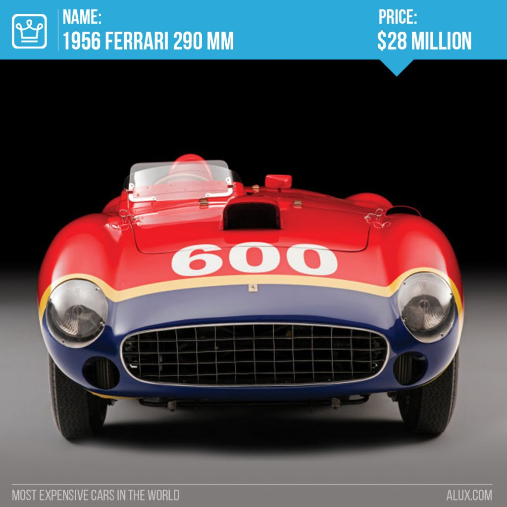 4 - most expensive cars in the world 1956 Ferrari 290 MM price alux