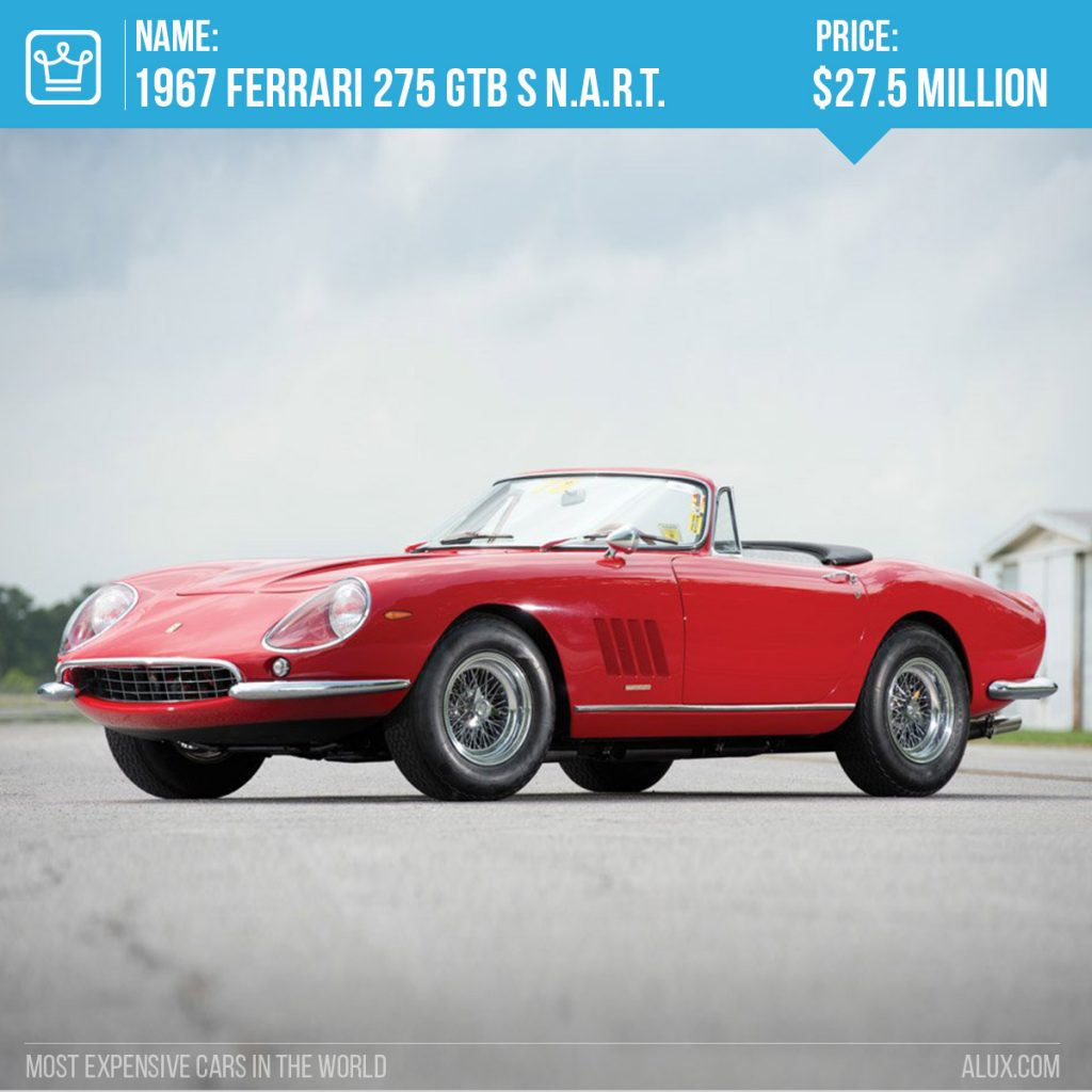 5 - most expensive cars in the world ferrari 197 275 gtb s nart spider price alux