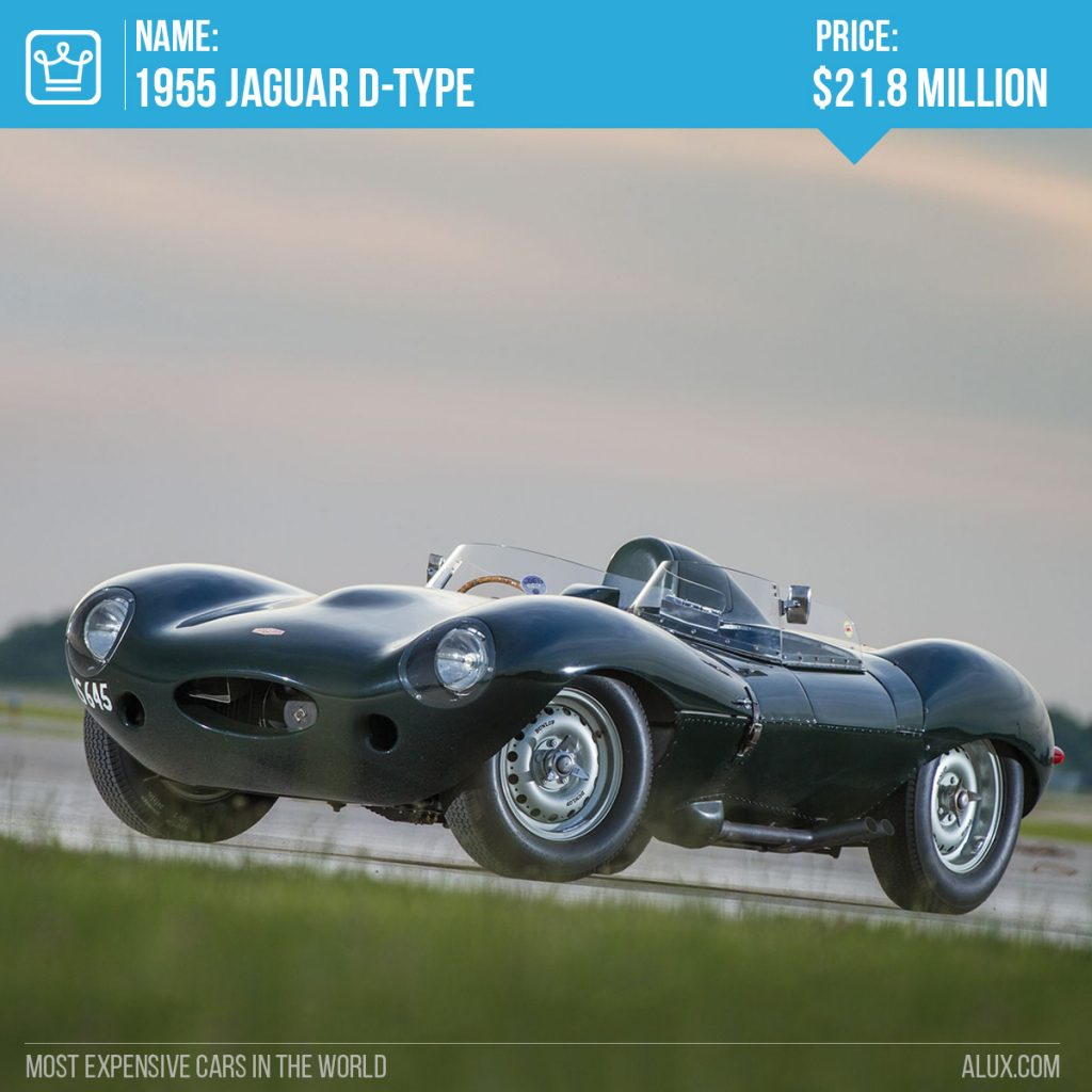 7 - 1955 Jaguar D-Type most expensive cars in the world price alux