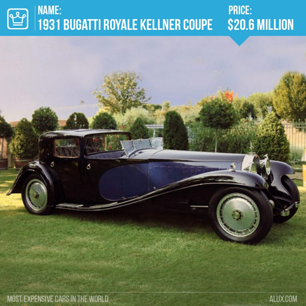 8 - most expensive cars in the world 1931 Bugatti Royale Kellner Coupe price alux