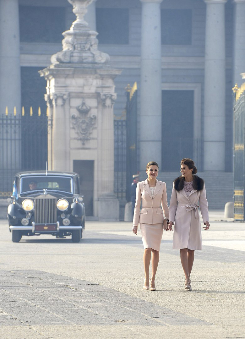 Argentina's First Lady and the Queen of Spain