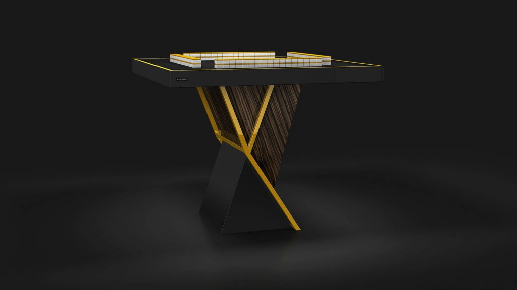 Eleven Ravens Reveals the $12,000 Gold Leaf Infused Mahjong Table