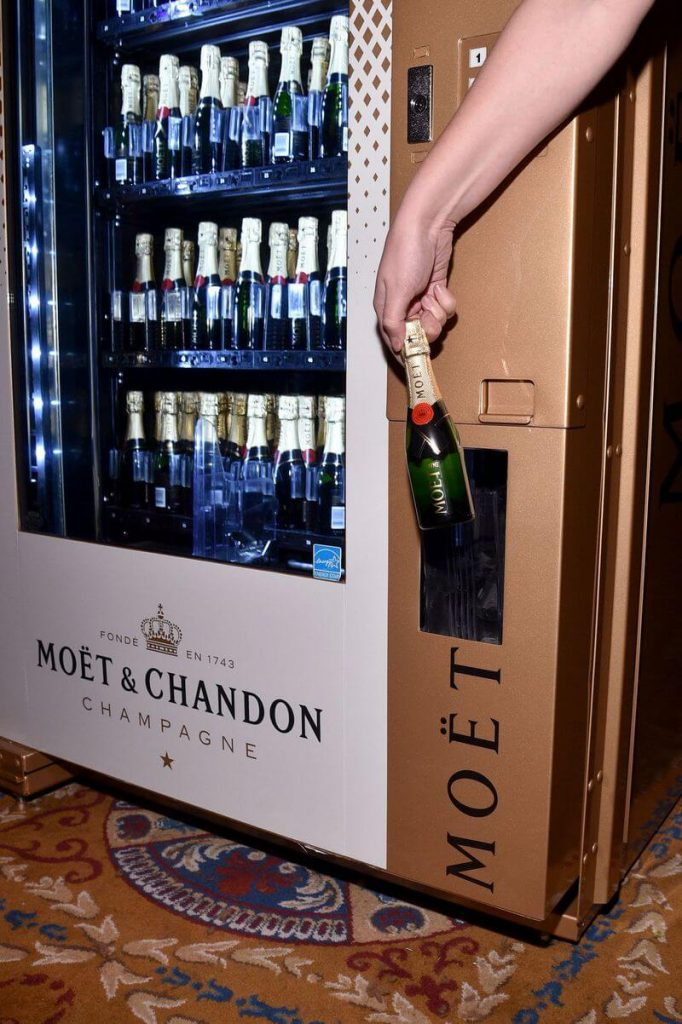 Las Vegas Now Has a Moët & Chandon Champagne Vending Machine And We Want that in Our Office