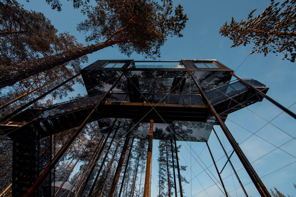 The 7th Room at Treehotel by Snøhetta Takes Treetop Cabins to the Next Level
