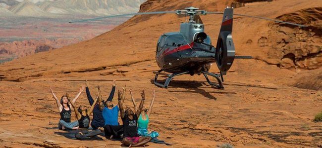 Maverick Helicopters & Silent Savasana Offers the HeliYoga Experience in Las Vegas