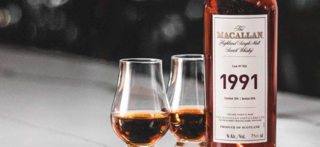 The Macallan is brining you a 1991 Fine & Rare Vintage Bottle of Scotch