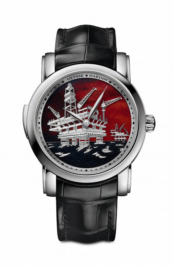 The Perfect Homage to Oil from Ulysse Nardin North Sea Minute Repeater Watch