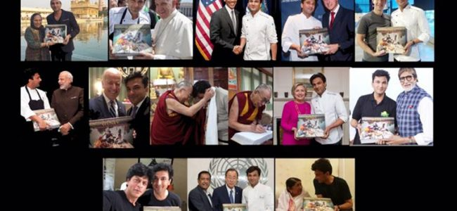 World's most expensive gold-gilded, handcrafted cookbook auctioned by Vikas Khanna