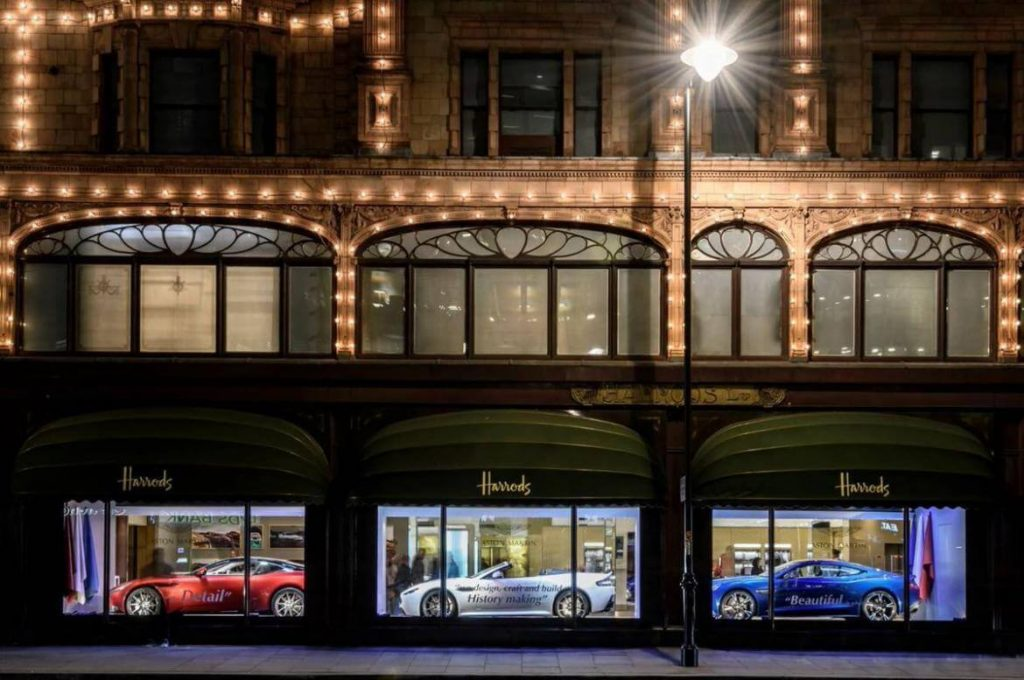 Aston Martin Displayed at Harrods' Window Is the Best thing You'll See Today!