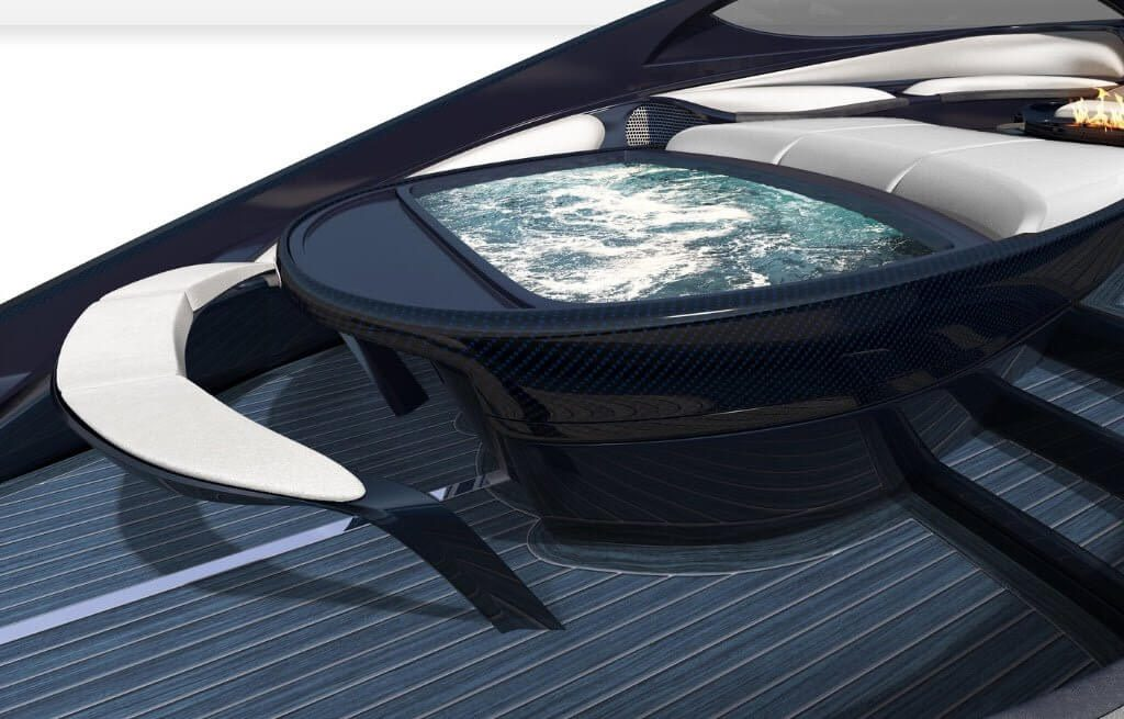 This Bugatti Niniette 66 Sport Yacht with a Fire Pit and Jacuzzi was Built to Match the $2.6 Million Chiron Supercar