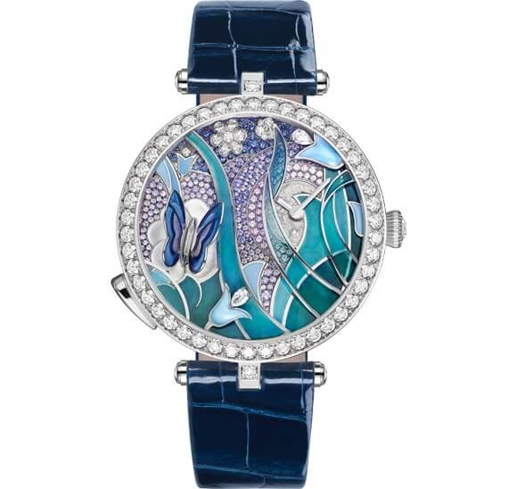 Watch how this Van Cleef & Arpels Lady Arpels Papillon Automate Flutters its Wings As You Move Your Arm