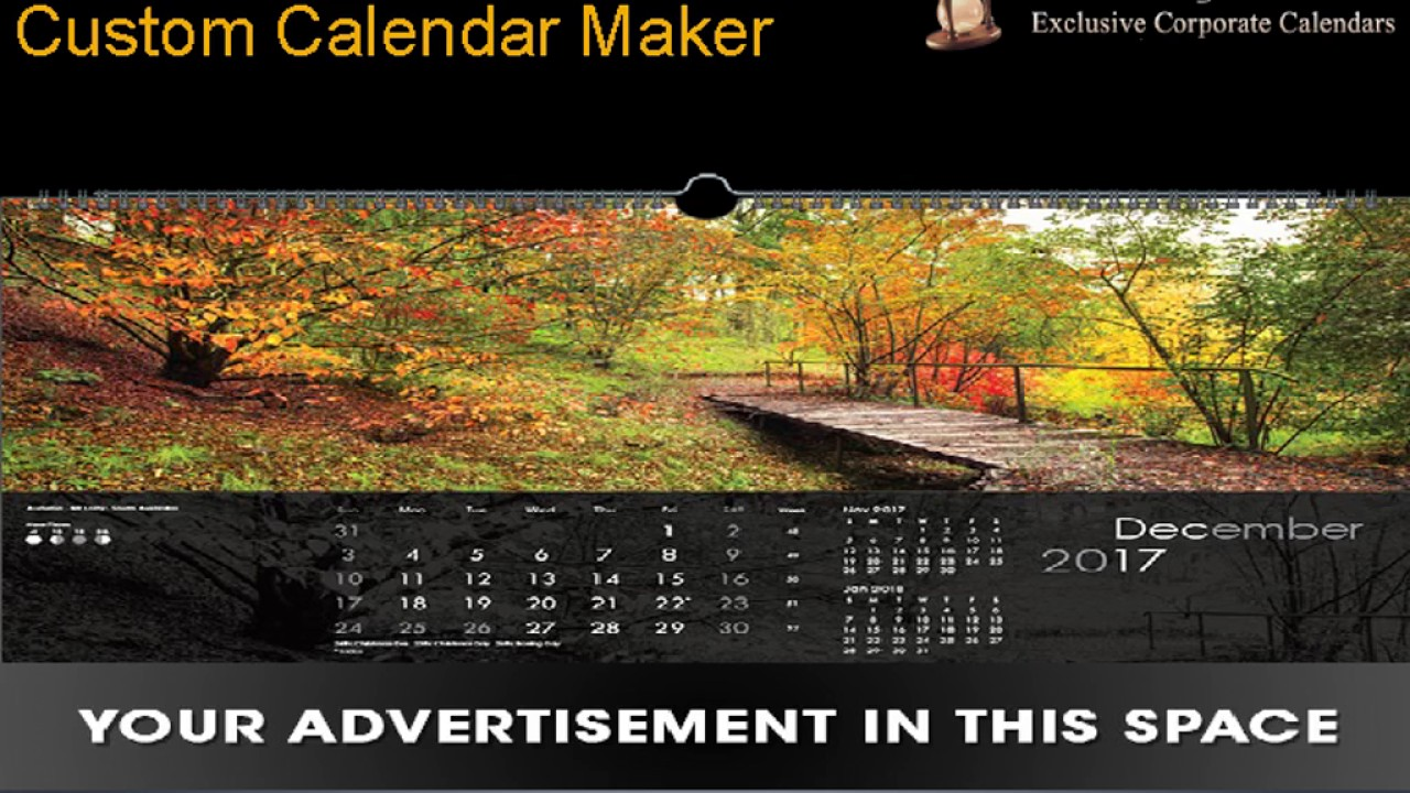 Sands of Time- Make Your Own Design Calendar Online in Australia