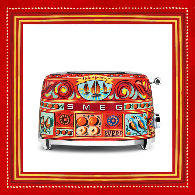 Give Your Kitchen a Total Makeover with Dolce & Gabbana's Line of Colorful Kitchen Appliances!