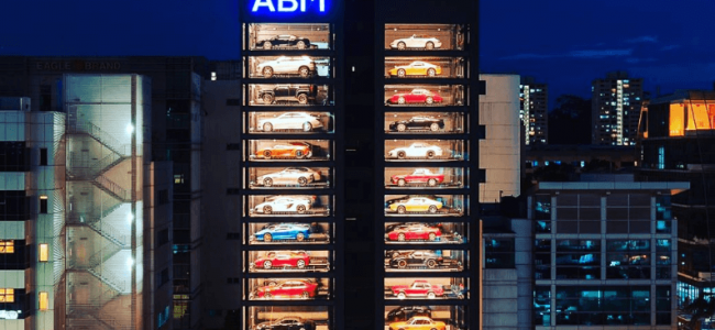 This 15-Storey Glass Building is the World's Largest Supercar Vending Machine