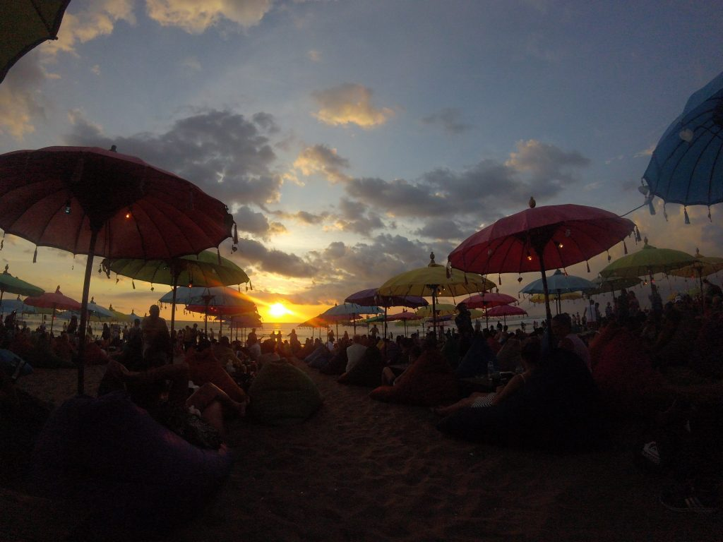 15 Places to Enjoy Luxurious Sunshine in Bali | #15. Relaxing on bean bags around Seminyak