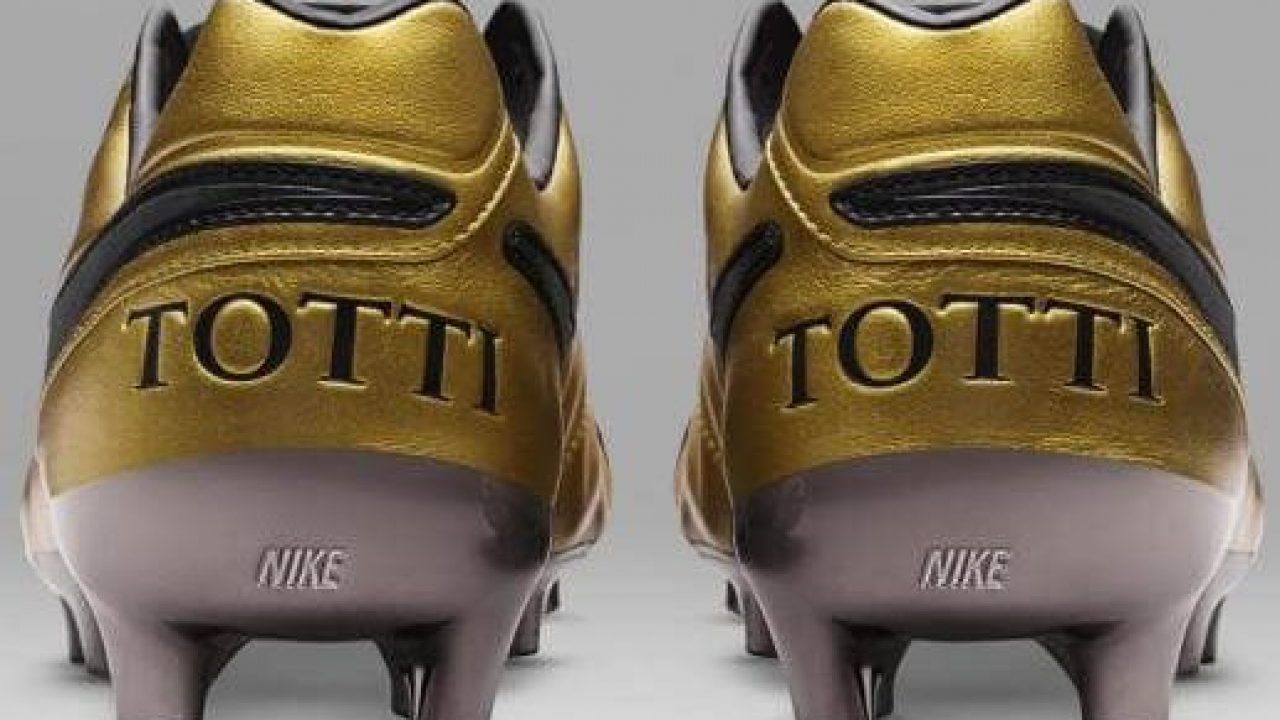 release date 04b38 daa19 Nike is Going Wild with Gold-Wrapped Nike Tiempo Totti x ...