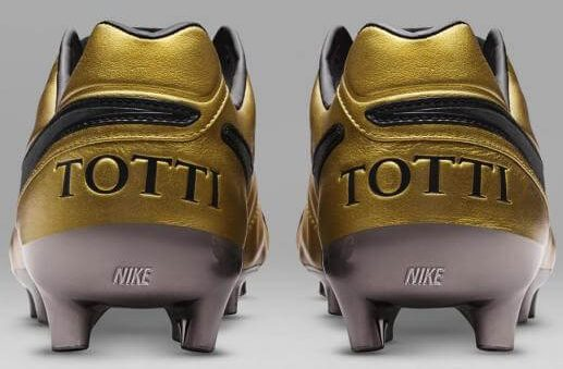 bd79206e8ca8 Nike is Going Wild with Gold-Wrapped Nike Tiempo Totti x Roma Boots...