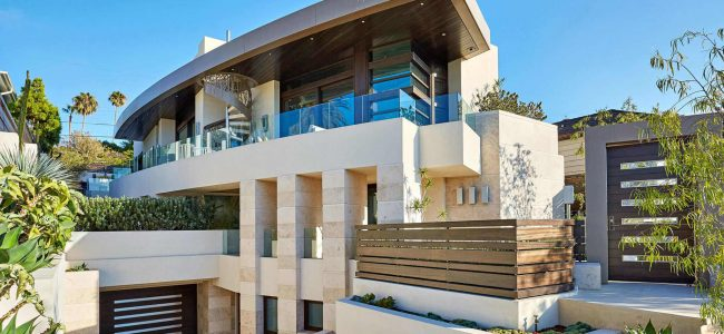 This Arc House in La Jolla Features a 5-Car Garage and an Automobile Turntable!