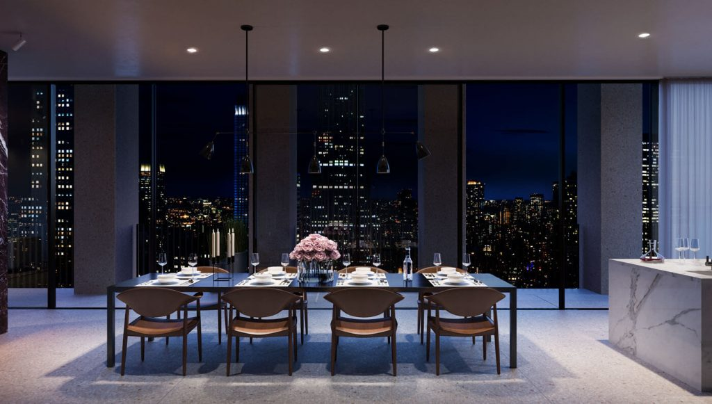 This nyc penthouse designed by famous british architect is for Penthouses for sale in nyc