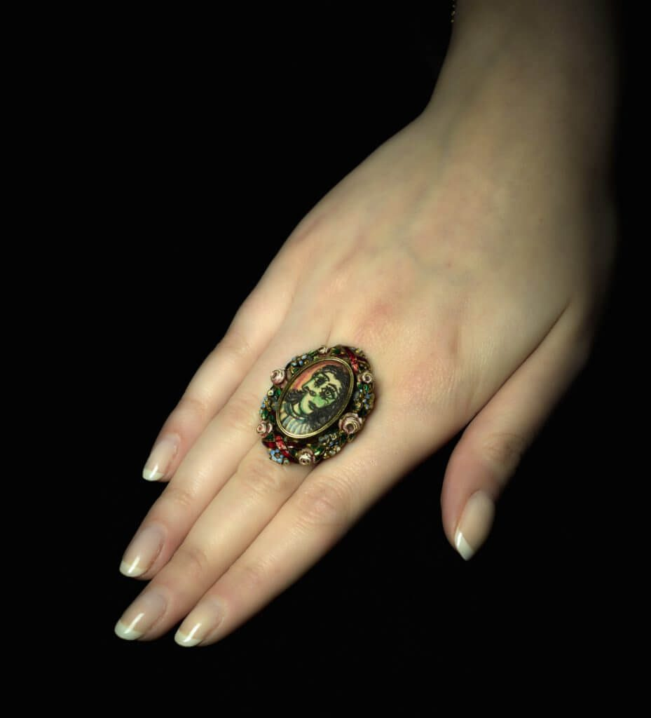 Sotheby's Sold the Ring Hand-Painted By Picasso for His Lover