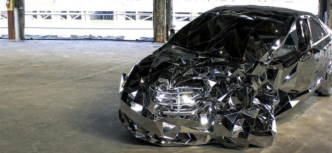 This Wrecked Mercedes Benz S550 is Jordan Griska's New Art Project