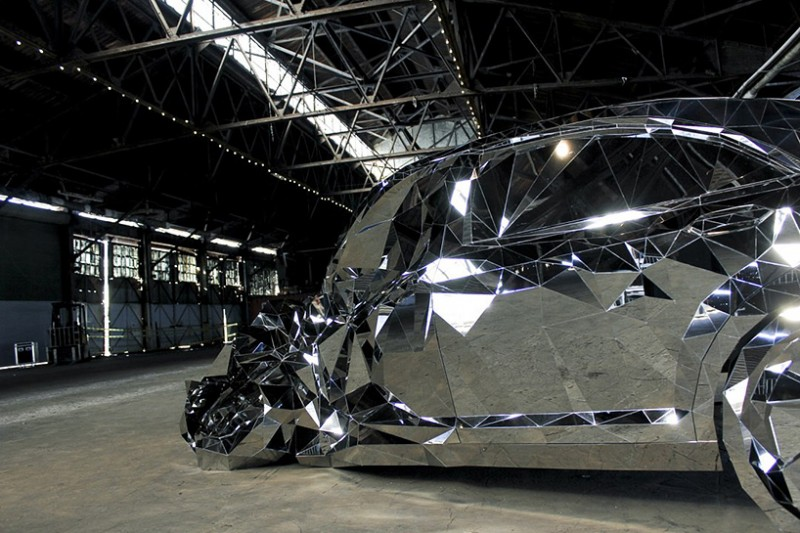 Check out a New Form of Art Thanks to Jordan Griska's Wreck Mirrored Steel Sculpture