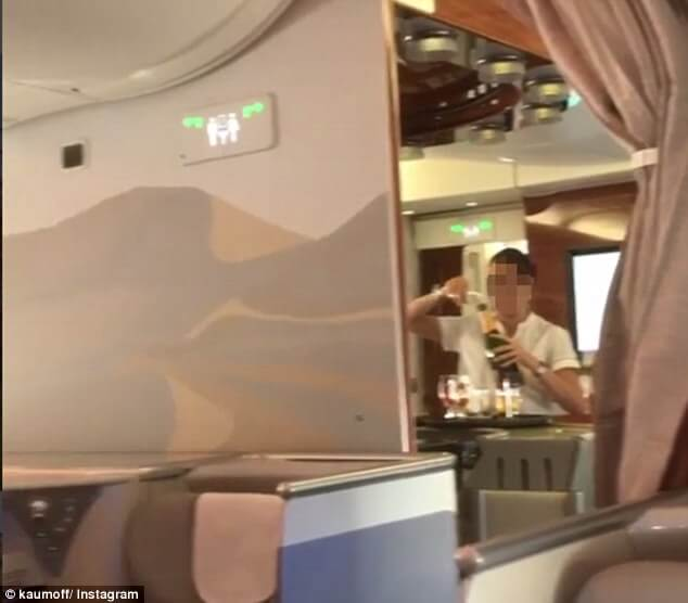 Passenger Spots Flight Attendant Pouring Champagne Back into the Bottle in Emirates Business Class!