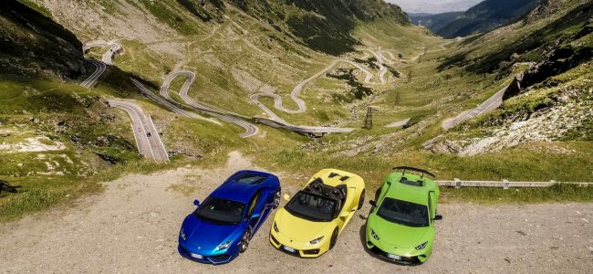 This Video of Six Lamborghini Huracán Conquering Transylvania's Prettiest Road Will Give You All the Feels