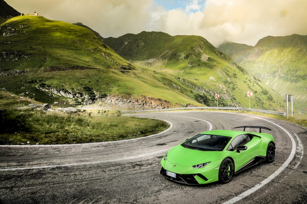 Watch this Video of Six Lamborghini Huracán Riding On Transylvania's Prettiest Driving Road (14)