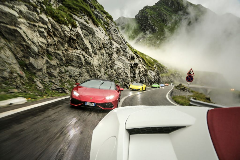 Watch this Video of Six Lamborghini Huracán Riding On Transylvania's Prettiest Driving Road (15)