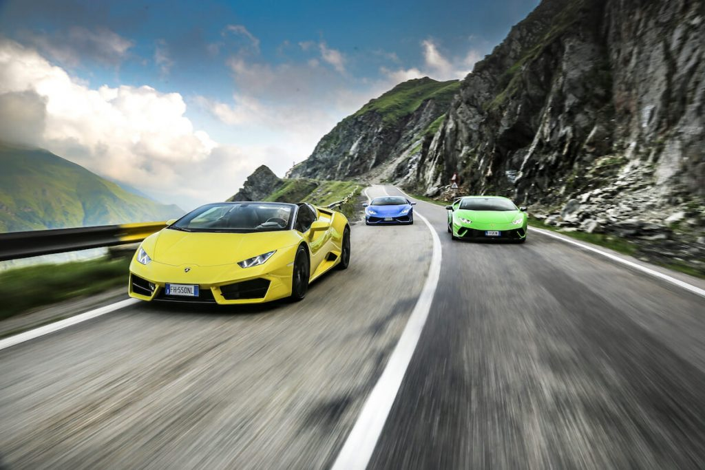 Watch this Video of Six Lamborghini Huracán Riding On Transylvania's Prettiest Driving Road (5)