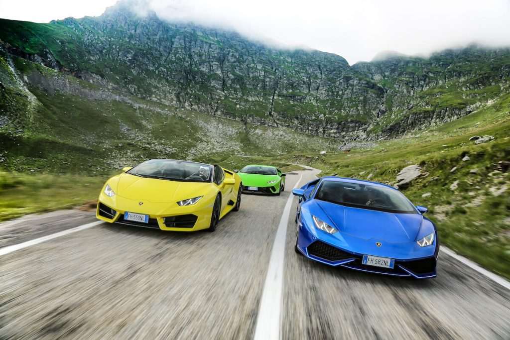 Watch this Video of Six Lamborghini Huracán Riding On Transylvania's Prettiest Driving Road (7)