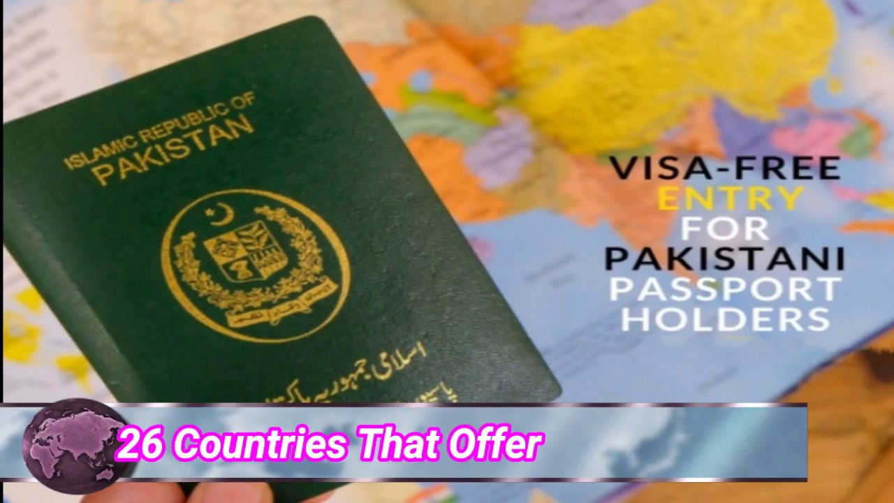 Pakistani Passport Holders Visa free entry