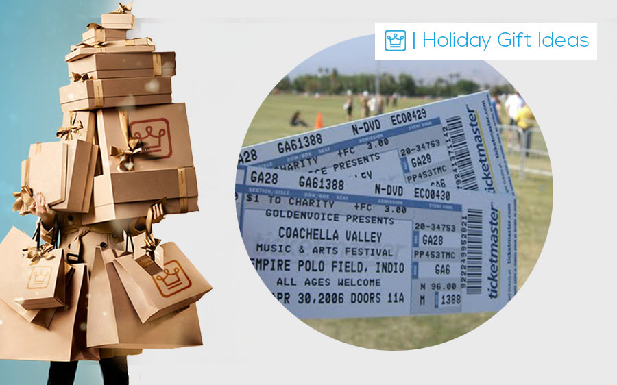 holiday best gift ideas for men and women coachella tickets