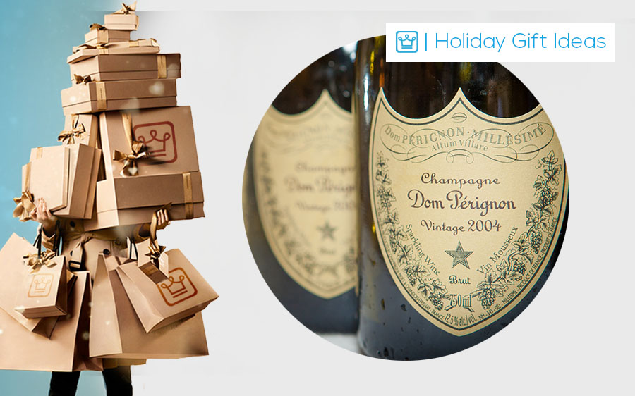 holiday gifts chamapgne dom perignon
