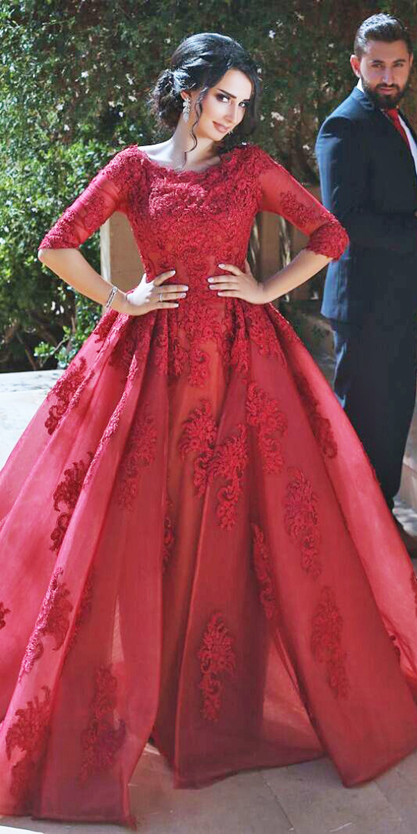 Amazing Blood Red Wedding Dresses - Alux.com
