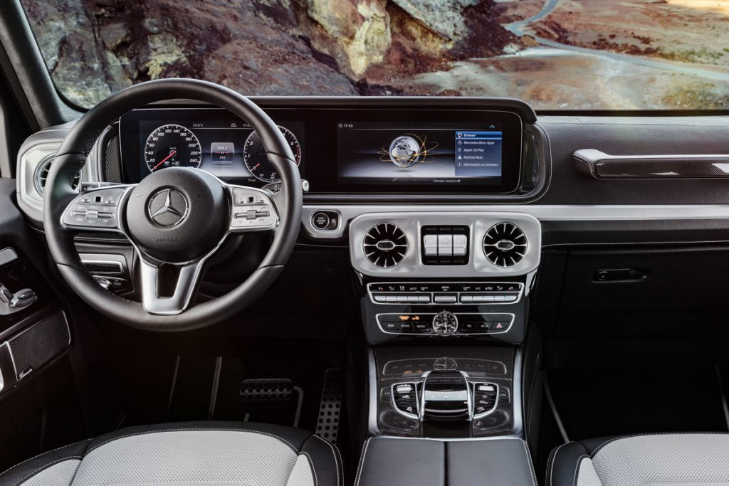the new g class mercedes 2018 dashboard
