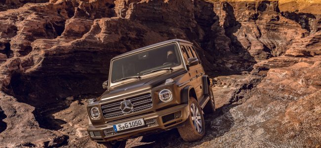 the new g class mercedes 2018 front view