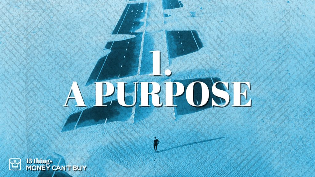 1 things money can't buy - a purpose