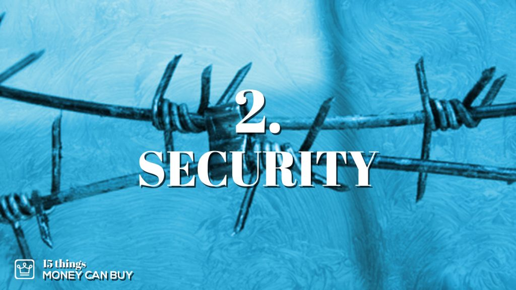 2 things money can buy - security