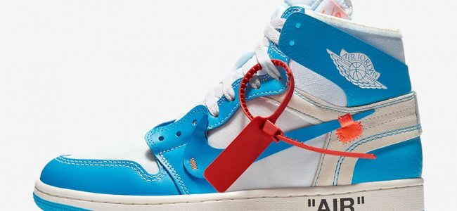 Virgil Abloh x AIR-JORDAN Alux Blue Sneakers
