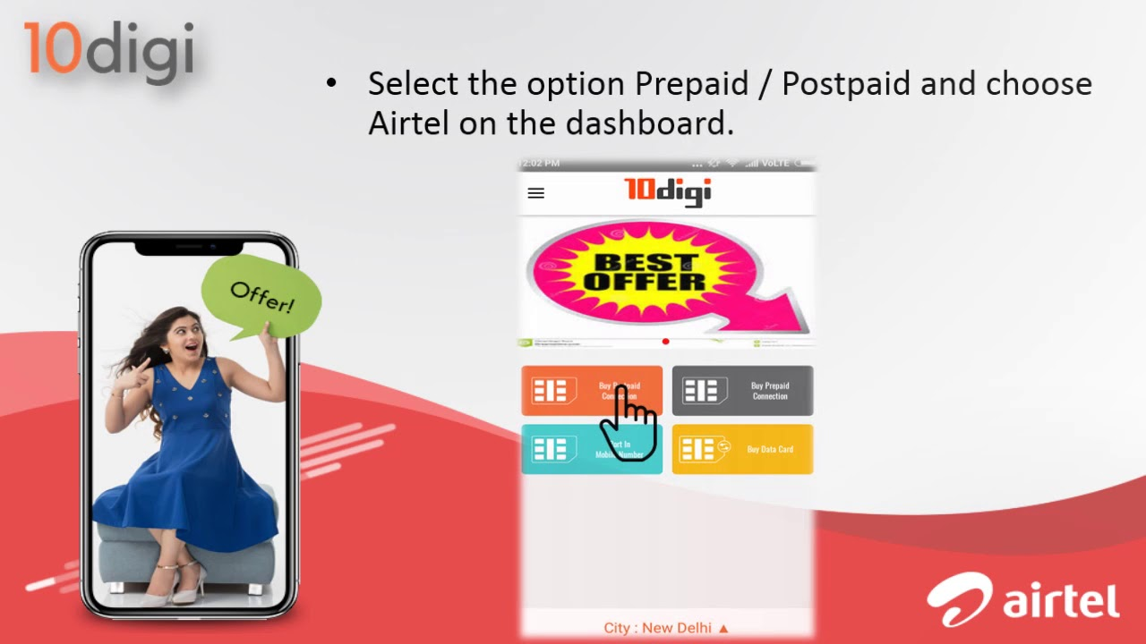 Get best Airtel Postpaid Offers with 10digi