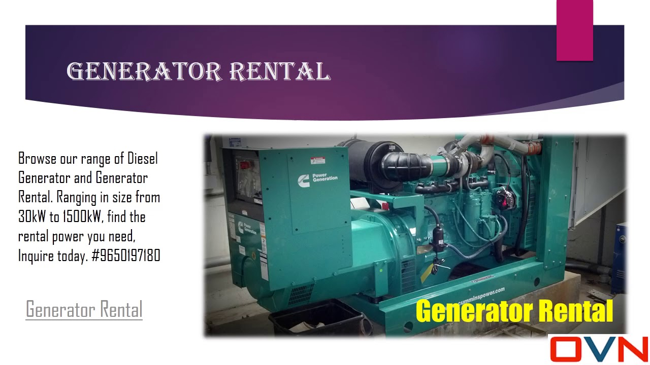 OVN Trading Engineers Professional Generator Installation in Delhi