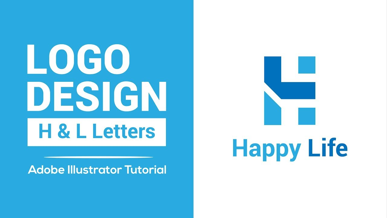 How to make a logo – letters logo – adobe illustrator tutorial
